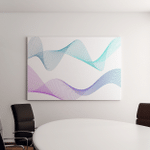 Wave Many Colored Lines Abstract Wavy Canvas Art Wall Decor