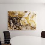 Sands Wilderness Art Golden Swirl Vibrant Canvas Art Wall Decor