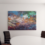 Seabed Abstract Panorama Sunk Ships Horizontal Canvas Art Wall Decor
