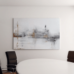 White Abstract Acrylic Painting On Canvas Canvas Art Wall Decor