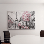 Oil Painting Street View Paris European Canvas Art Wall Decor