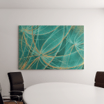 Oil Painting Textured Background Abstract Dandelions Canvas Art Wall Decor