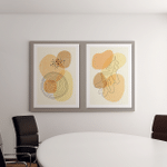 Set Minimal Posters Abstract Organic Shapes Canvas Art Wall Decor