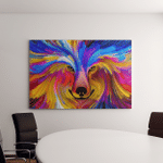 Wolf Dog Abstract Digital Painting On Canvas Art Wall Decor