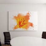 Yellow Water Lily Close Isolated On Canvas Art Wall Decor