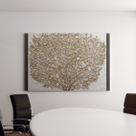 3D Render Picture Gold Coral Canvas Art Wall Decor