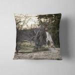 Deer Training Tree During Rutting Season Pillow Case Cover