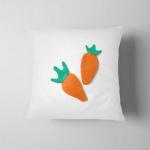 Delicious Orange Carrot Made Plasticine Clay Pillow Case Cover