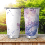 Double Exposure Woman Bodyforest Flowers Shining Tumbler