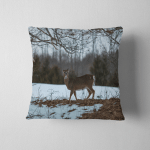 Deer Making Faces While Foraging Food Pillow Case Cover