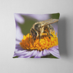 Detail Bee Honeybee Latin Apis Mellifera Pillow Case Cover