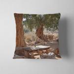 Dessert Road Karoumes Beach Kreta Island Pillow Case Cover