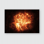 Fiery Explosion Space Elements This Image Poster, Sticker, Ornament