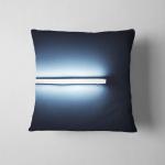 Detail Fluorescent Light Tube Mounted On Pillow Case Cover