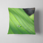 Dew Drop On Green Banana Leave Pillow Case Cover