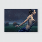 Fine Art Photo Mysterious Young Beauty Poster, Sticker, Ornament