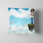 Digital Composite Young Girl On Floating Pillow Case Cover