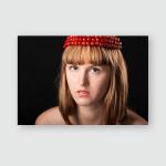 Fine Art Portrait Beautiful Girl Chaplet Poster, Sticker, Ornament