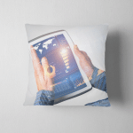 Digital World Concept Graphic On Tablet Pillow Case Cover