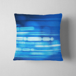 Digitally Generated Image Blue Light Stripes Pillow Case Cover