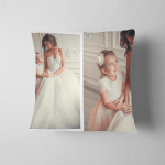 Diptych Two Portraits Daughter Mother Wedding Pillow Case Cover