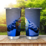 Earth Globe Hands Man Shining Tumbler