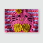 Fine Craftsmanship Use Pink Crochet Yarn Poster, Sticker, Ornament