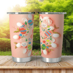 Easter Background Best Wishes Lettering White Shining Tumbler