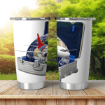 Earth Modern Suitcase Flying Airplane Elements Shining Tumbler