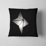Diwali Lantern Lit Black White Paper Pillow Case Cover