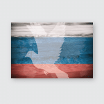 Flag Russia Pigeon Peace Background Texture Poster, Sticker, Ornament