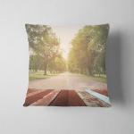 Wood Table Vintage Tone Blur Image Pillow Case Cover