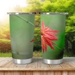 Spring Background Art Young Maple Leaves Shining Tumbler