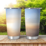Summer Holiday Concept Abstract Blur City Shining Tumbler