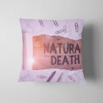 Word Writing Text Natural Death Business Pillow Case Cover