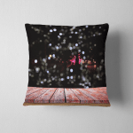 Wooden Deck Looking Out City Light Pillow Case Cover