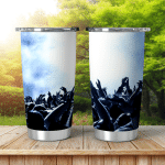 Silhouettes Concert Crowd Front Bright Stage Shining Tumbler