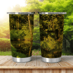 Summer Day Deep Forest Abstract Environmental Shining Tumbler