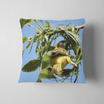 Southern Male Masked Weaver Constructing Nest Pillow Case Cover