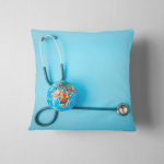 World Health Day Stethoscope Wrapped Around Pillow Case Cover