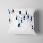 Worldwide Business Network Businessmen Different Positions Pillow Case Cover