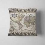 World Old Map Created By Nicholas Pillow Case Cover