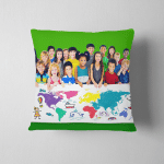 World Kids Journey Adventure Imagination Travel Pillow Case Cover
