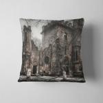 Spooky Transilvania Castle Pillow Case Cover