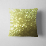 Yellow Gold Color Blurred Background Light Pillow Case Cover