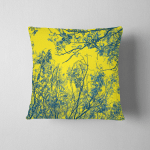 Yellow Trees Background Pillow Case Cover