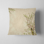 Spring Plum Blossom On Old Antique Pillow Case Cover