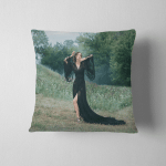 Youn Beautiful Woman Black Dress Sexy Pillow Case Cover