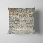 Square Bricks Floor Texture Background Black Pillow Case Cover