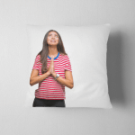 Young Beautiful Arab Woman Over Isolated Pillow Case Cover